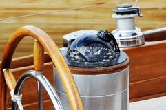 rudder компаса Стоковые Фото