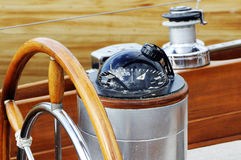 Rudder and compass Stock Photos