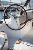 Rudder żeglowanie jacht Obraz Stock