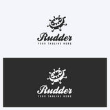 Rudder, Helm Logo Design Template. Sailing, Nautical Theme. Simple and Clean Style. Black and White Colors. Stock Photos