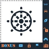Rudder icon flat stock illustration