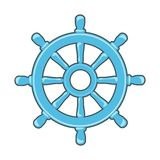 Rudder icon. Or Ship Wheel isolated on white Stock Photo
