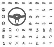 Rudder icon. Transport and Logistics set icons. Transportation set icons.  Stock Photography