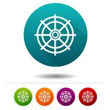Rudder icons. Travel signs. Nautical symbol. Vector Circle web buttons. Royalty Free Stock Photos