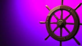 Rudder na purpurowej tekst przestrzeni zdjęcie wideo