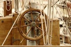 Rudder. Old  wooden sailboat rudder Stock Photos