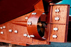 Rudder and propeller of a fish trawler. After maintenance Royalty Free Stock Photos