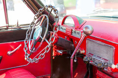 Rudder rocznika samochód Obraz Stock