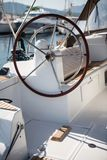 Rudder of sailing yacht. Detail of rudder of sailing yacht Stock Image