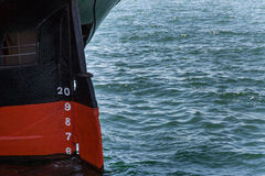 Rudder Scale on an Old Ship Royalty Free Stock Image