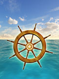 Rudder wheel Stock Images