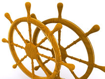 Rudders leadership. 3D Stock Image