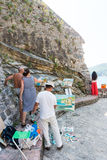 Russian Artists on the promenade of Budva, Montenegro Royalty Free Stock Images
