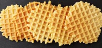 Ruddy crispy wafers Stock Photos