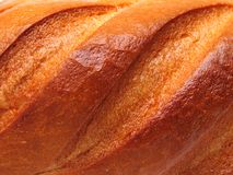 Ruddy crust. Ruddy fresh bread crust texture stock images