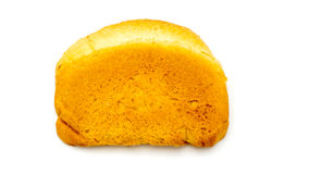 Ruddy crust white bread isolated Royalty Free Stock Image