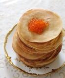 Ruddy fried pancakes Stock Photo