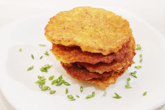 Ruddy Potato pancakes, Stock Images