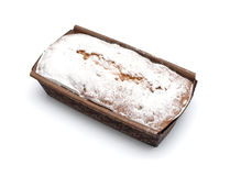 Ruddy rectangular cake Stock Image