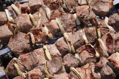 Ruddy shish kebab Stock Photos