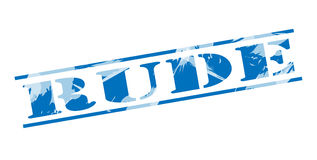 Rude blue stamp. On white background Royalty Free Stock Images