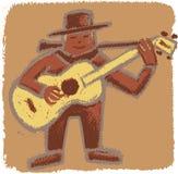 Rude bluesman stock photo