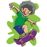 Rude Boy Skateboarding Royalty Free Stock Photos