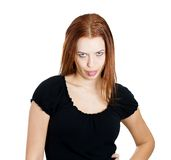 Rude bully woman Stock Images