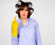 Rude housewife Stock Photos
