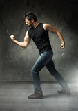 Rude man like wolverine Stock Images