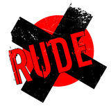 Rude rubber stamp Royalty Free Stock Photography