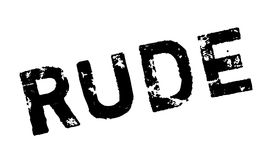 Rude rubber stamp Stock Photography