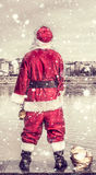 Rude Santa Claus Stock Image