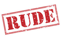Rude stamp. Rude red stamp on white background Royalty Free Stock Photography