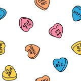 Rude Valentine Conversation Hearts, Ironic Candy Royalty Free Stock Images