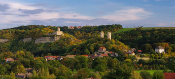 Rudelsburg and Saaleck castle Stock Image