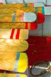 Ruder vieler Farben stockfoto
