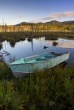 Ruderboot im Adirondacks Lizenzfreie Stockbilder
