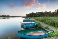 Ruderboote auf Filby breit Lizenzfreies Stockbild