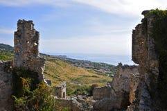 Ruderi Cirella Vecchia, Cosenza, Calabria Fotografia Stock