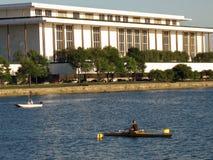 Rudern auf dem Potomac Stockfoto