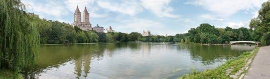 Rudern in Central Park stockbild