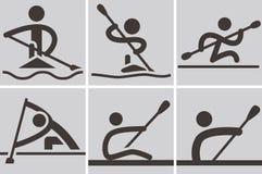 Rudern und Canoeing Stockbilder