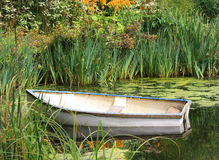 Rudersport-Boot im Wasser lizenzfreies stockbild
