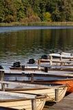 Rudersportboote beim Schlachtensee lizenzfreies stockbild