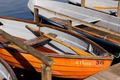 Rudersportboote beim Schlachtensee stockbild