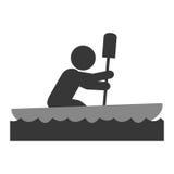 Rudersportpersonen-Piktogrammikone Lizenzfreies Stockbild