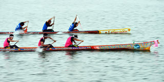 Ruderwettkampf in Narathiwat, Thailand stockbild