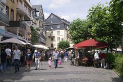 Rudesheim德国购物 免版税库存照片