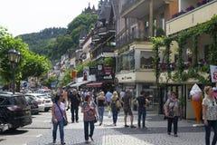 Rudesheim,莱茵河的德国 免版税库存照片